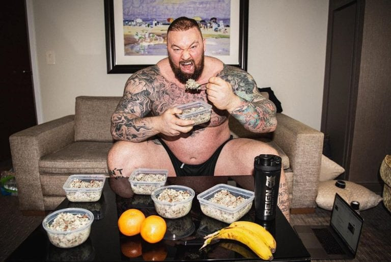 Diet For The Strongest: Hafthor Bjornsson Tells What He Eats During A Day