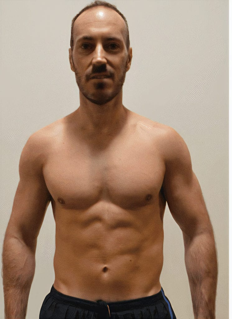athlete after burning fat with clenbuterol steroid