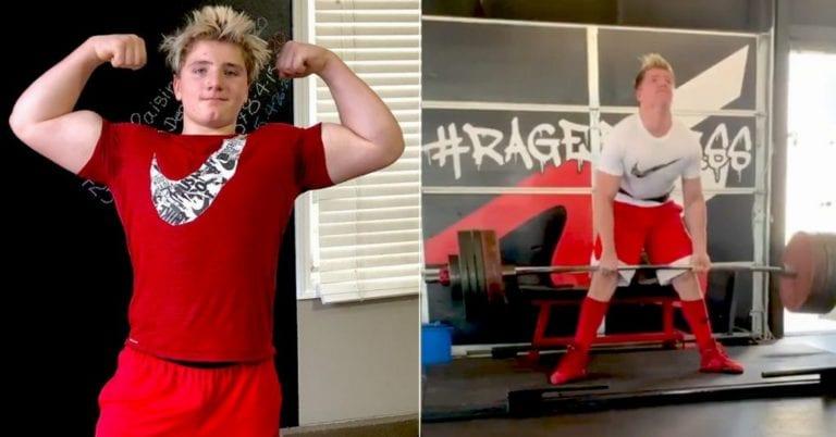 Deadlifting Genius: 13-year-old Kid Lifts 445LB