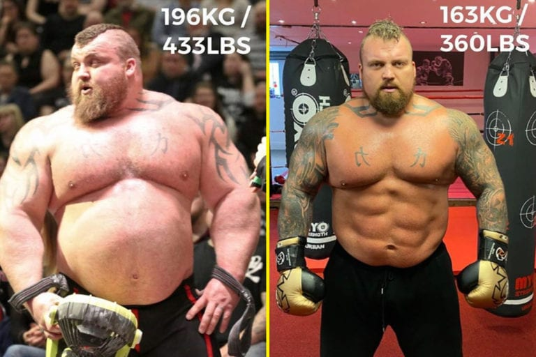 Eddie Hall Demonstrates His Transformation: You Won't Believe It's Not Photoshop!