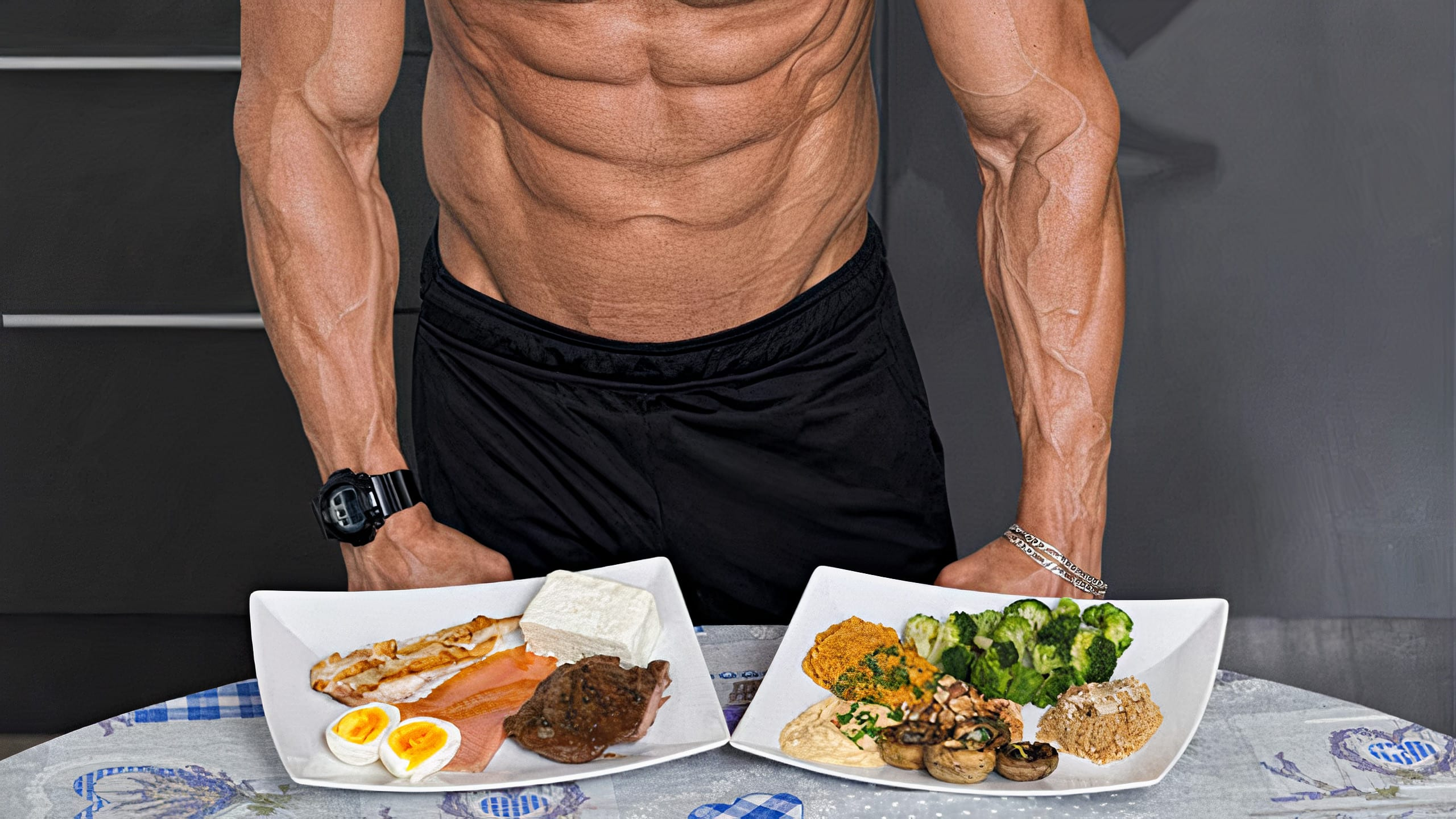 Bodybuilder Looking At Foods That Contain Natural Steroids